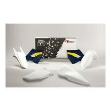 Husqvarna FE 350 2015-2016 Rtech Racetech Plastics Kit - White/Blue 75-K517