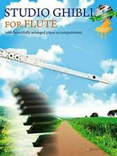 Studio Ghibli For Flute Sheet Music Japan w/ Piano Accompaniment CD Joe Hisaishi