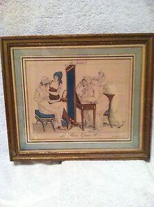 Antique Hand Colored Print - Toilette - Le Bon Genre No. 5. Rue Montmartre.