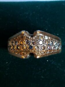 14K Diamond Ring Setting Vintage Antique Heavy Size 7.5 9.2g