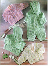 baby childs cardigans jacket and all in one dk knitting pattern 99p