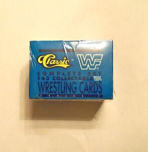 1990 CLASSIC WWF WRESTLING SET - SEALED 145 CARDS  HOGAN ANDRE WARRIOR  WWE