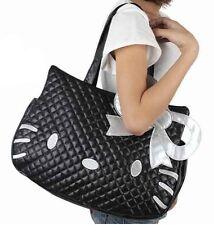 The new Hello Kitty black color with silver bow tote bag handbag shoulder bag