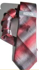 NEW Mens Silk Tie Necktie Plaid Red Gray Coonhound Stripe Kenneth Cole A2176