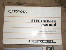 1997 TOYOTA TERCEL USED  OEM  OWNERS OWNER'S MANUAL HANDBOOK 1997
