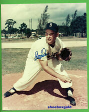 CLEM LABINE, Signed 8X10 Photo, Brooklyn Dodgers (Pitch Follow Thru Photo)