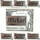 Personalized Metal Money Clip Customized Engraved Valentine's Day Gifts for Him