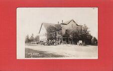 RPPC Durham,Waukesha County,WI Wisconsin General Store,dirt street,horses wagons