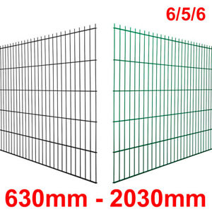 Doppelstabmatte 6/5/6 - Gittermatte - Drahtmatte - Zaun 630mm - 2030mm