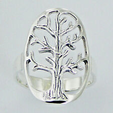 USA Seller Tree of Life Ring Sterling Silver 925 Best Deal Plain Jewelry Size 9
