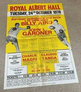 1978 Original Poster Billy Aird v John L Gardner at Royal Albert Hall