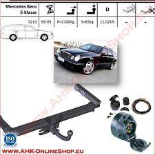 Gancio traino fisso Mercedes Classe E S210 1996-2003 + kit elettrico 7-poli