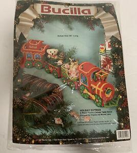 Bucilla Holiday Express 4 Piece Train Plastic Canvas Table Decor Kit 61145