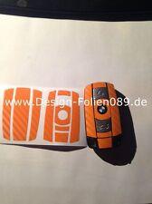 CARBONO Naranja Llave Lámina BMW Tecla 1 3 5 X 5 X 6 E60 E70 E90 E91 E92 E93