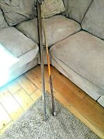 """1 Piece Handmade Ash 58"""" Snooker/ Pool Cue With Brass Plate And Metal Case"""