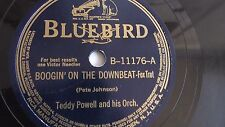 Teddy Powell - 78rpm single 10-inch – Bluebird #B-1176 Boogin' On The Down Beat
