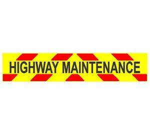 Highway Maintenance Chevrons Self Adhesive Vinyl Engineering Grade 2000mm x 3...