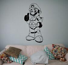 Super Mario Wall Vinyl Decal Video Game Vinyl Sticker Superhero Home Interior 20
