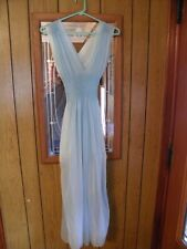 VINTAGE LIGHT BLUE SHEER NEGLIGEE 1950'S