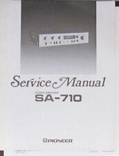 Pioneer SA-710 amplificatore HiFi Servizio di Riparazione Officina Manuale (copia originale)
