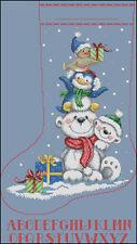 """""""Christmas Stocking #25"""" Cross Stitch Pattern Chart"""