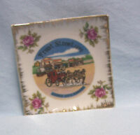 SOUVENIR DISH Vintage Porcelailn Dish Front Street 1873 Dodge City, Kanses A-2