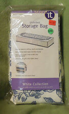 Target Store It Underbed Storage Bag White Collection white with blue flowers