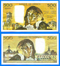 France 500 Francs 1970 8 January Serie X 21 Pascal Europe Frcs Frc Free Ship Wld
