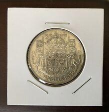 1952 Canada 50 Cent Silver Half Dollar Toned