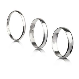 Wedding Band Sterling Silver Different sizes and different thickness handmade