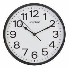 Stylish Black & White Bold Classic Quartz Wall Clock