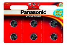 "Nuevo Panasonic CR2032 3 V Moneda Litio lucen 6 Baterías Pack ahorro ""panacr 2032-B6"""