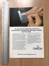 Omega / Philips 1974 Advertisement Pub Ad Werbung