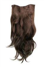 Clip-In Postiche 7 Attache Demi-Perruque Extensions Cheveux Marron 60cm H9505-6