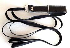 LAMPING/COURSING LEATHER Twin Quick Release Slip Lead+handle Lurcher/Greyhound#