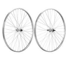 """Coppia ruote Citybike Alluminio 26""""x3/8 Filetto 1v con perno"""