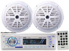 "*KIT* Pyle Marine Head-Unit AM/FM/USB/SD iPod Player w/ 2 x 100W 4"" Speakers"