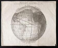 Emisfero atlantique - Mappa della 18e - Bernardin de Saint Pietra