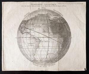 Hemisphere Atlantik - landkarte Der 18e - Bernardin aus Saint Stein