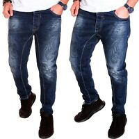 Herren Jeans Chino Blau Harem Kosmo Hose Lupo Clubwear Camouflage Neu J.6.6