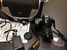 Nikon D80 10.2MP Digital SLR Camera Black 28-80mm telephoto lens ~ 100% Charity