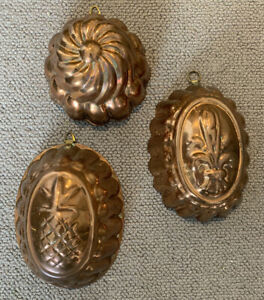 Decorate Vintage Copper Jelly Moulds