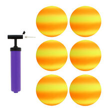 """Get Out!™ 8.5"""" Inch Orange & Yellow Playground Ball Four Square Balls 6pk & Pump"""