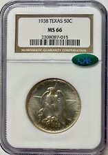 1938 50C Texas Silver Commemorative NGC MS66 CAC