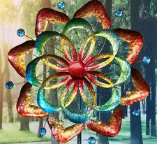 Windrad Windspiel Kinetic Spinner  Flower Metall Gartenstecker Deko Kugellager