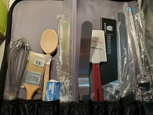 Mercer Education 22 pc Pastry Culinary School Knife Kit UPGRADED Chefs Knife