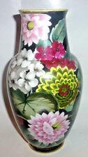 Antique NIPPON Japanese Porcelain Art Vase Hand Painted Flowers Art Deco Nouveau
