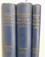New ListingDocumentary History Constitution of the United States of America Antique Books