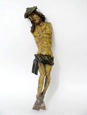 Holz geschnitzte Heilig Figur Christuskorpus Figure Figurine um 17./18. Jh.