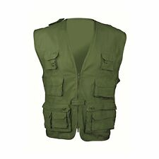 Highlander Olive L Multi Pocket Fishing Vest Hunting Multi purpose Waistcoat